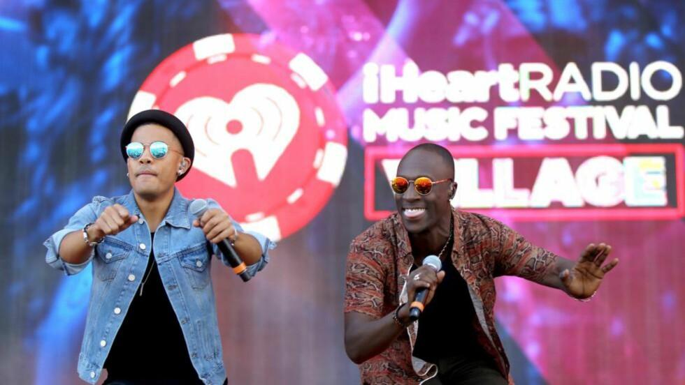 SINGELAKTUELLE: Nico & Vinz slipper ny singel i dag. Her under iHeartRadio Music Festival Village i Las Vegas, Nevada 20. september. Foto: Isaac Brekken/Getty Images for Clear Channel/AFP
