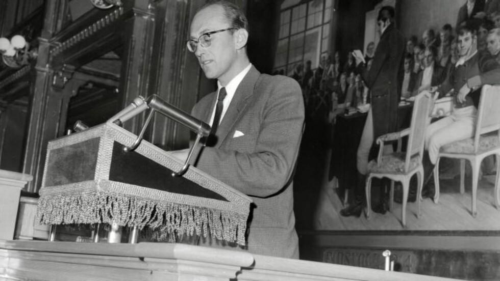 NAVNGIS SOM SPION: Det var i sommer at Dagbladet avdekket at Ap-statsråden Gunnar Bøe blir navngitt som KGB-agent i Mitrokhin-arkivet. Bøe var lønns- og prisminister i Gerhardsens tredje regjering fra 1959 til 1962. Under dekknavnet «Mono», skal Bøe ha gitt KGB graderte dokumenter i bytte mot over en million kroner (i dagens kroneverdi) fra 1960 til 1963. Foto: ARBEIDERBEVEGELSENS ARKIV OG BIBLIOTEK