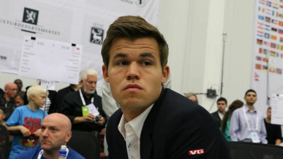 KAN BLI DETRONISERT. Magnus Carlsen står i fare for å bli passert som verdens best rangerte sjakkspiller. Foto: Joachim Baardsen / Dagbladet