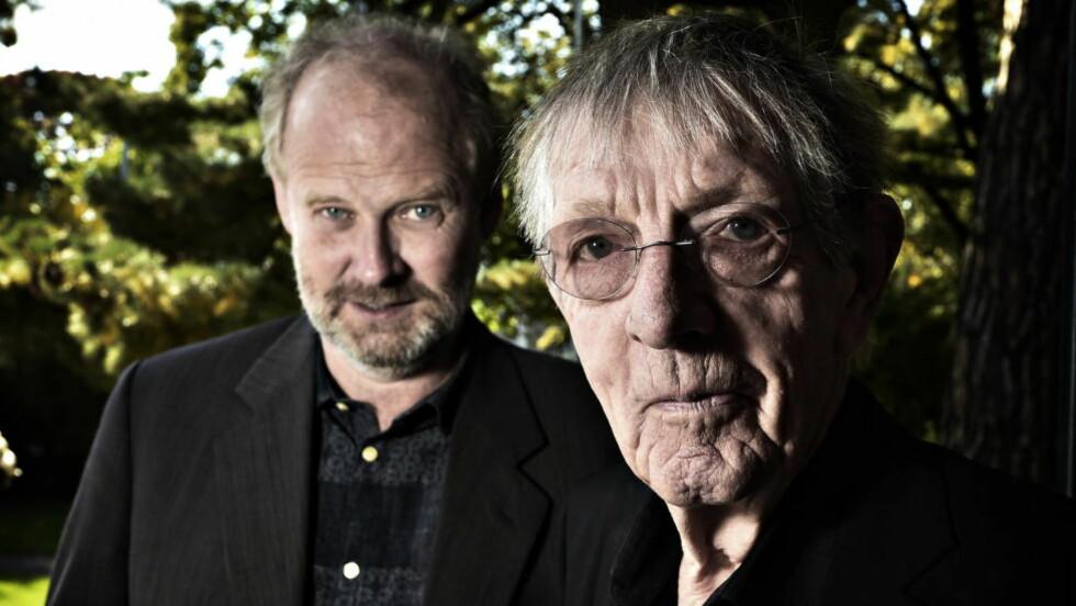 INTERVJUBOK: Alf van der Hagen intervjuer, og Kjell Askildsen forteller, i boka «Kjell Askildsen. Et liv». Foto: Hans Arne Vedlog / Dagbladet