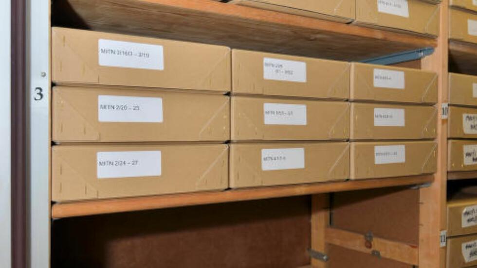 SMUGLET: KGBs sjefarkivar, Vasilij Mitrokhin, kopierte for hånd KGBs arkiv da han fikk i oppdrag å flytte det. I dag finnes dokumentene hos Churchill Archives Centre i Cambridge. Dagbladet har hentet ut den norske delen. Foto: CHURCHILL ARCHIVES CENTER
