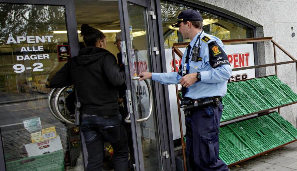 GJORDE BESLAG: Politiet skal blant annet ha gjort interessante funn i to Lime-butikker i Oslo i dagens aksjon. Foto: Anita Arntzen / Dagbladet