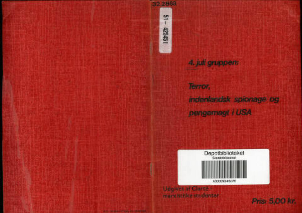 BLE SENDT TIL NORSKE POLITIKERE: I Mitrokhin-arkivet står det at pamfletten ble trykt i 15 000 eksemplar og at innholdet var basert på KGBs teser. Deretter ble pamflettene sendt ut til aviser, parlamenter, politikere og ambassader i Sverige, Norge og Finland. Nå har Dagbladet klart å finne pamfletten.