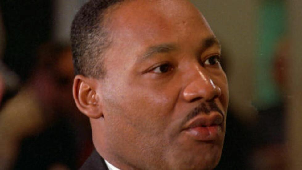BLE SVERTET AV BÅDE KGB OG FBI: Martin Luth King jr. var kanskje den eneste i historien som ble utsatt for svertekampanjer både fra FBI og KGB, skriver Andrew og Mitrokhin. Foto: AP/NTB SCANPIX