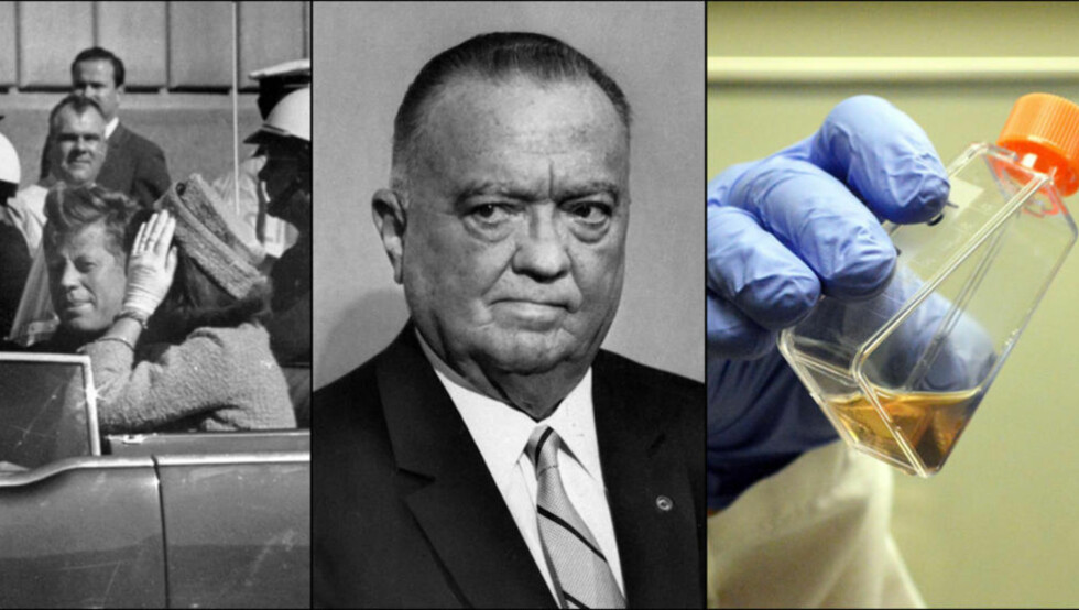 VILLE SVERTE USA: FBIs mektige sjef J. Edgar Hoover kledde seg ofte med rød kjole med boa-skjerf, drapet på USAs president John F. Kennedy var et komplott, og det var USA som lagde aidsviruset.  Det er bare noen av konspirasjonsteoriene KGB forsøkte å sverte USA med. Alle foto: NTB SCANPIX