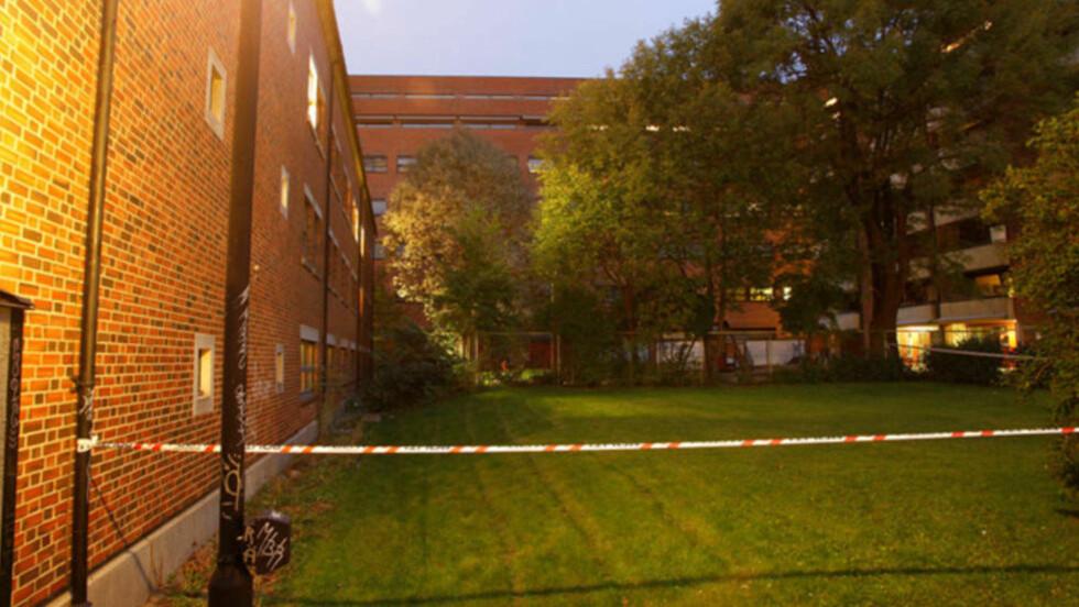ÅSTEDET:  Politiet har pågrepet en indisk statborger som er siktet for en grov voldtekt i denne delte baggården, sentralt på Grønland i Oslo sentrum. Foto: Politiet