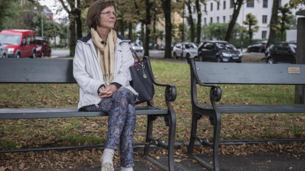 FOLKESYKDOMMER:  Seks nordmenn forteller om livet med kols, alzheimer, kreft, revmatisme, diabetes og hjerte- karsykdom. Torhild Thomassen (64) har alzheimer. Foto: ØISTEIN NORUM MONSEN