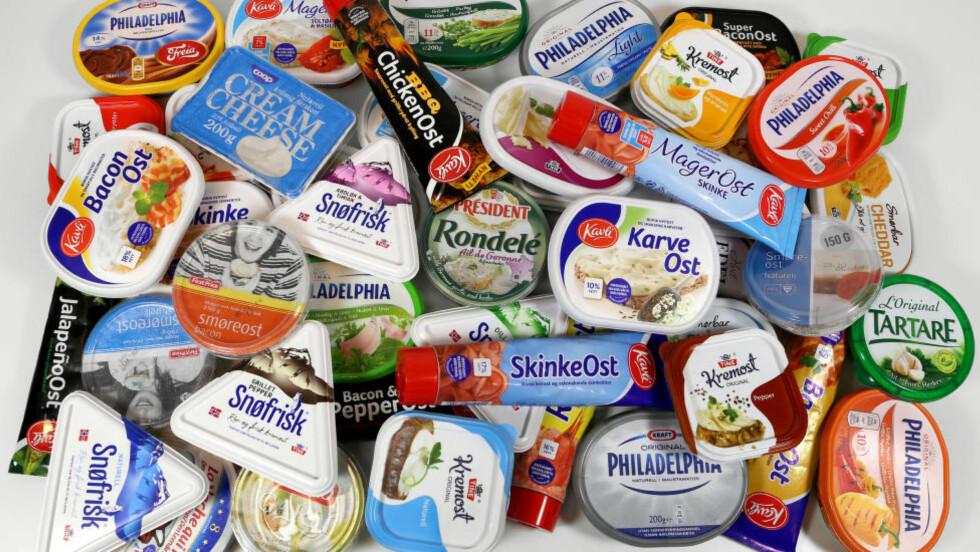 IKKE ETT FETT: Spesielt når det gjelder innhold av fett og salt, skiller smøreostene på det norske markedet seg fra hverandre. Foto: Erik Helgeneset