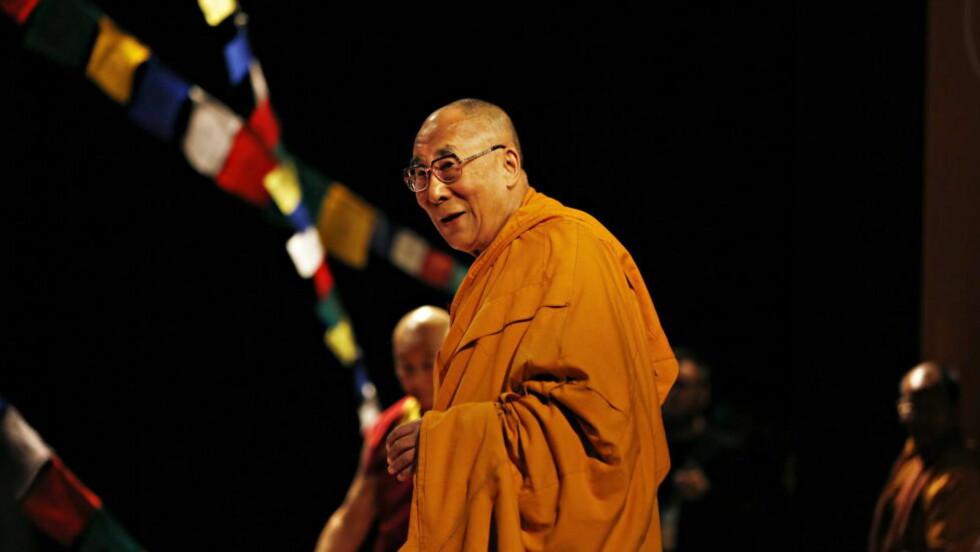 RETUR? Tibetanernes åndelige leder Dalai Lama er i samtaler med kinesiske representanter om muligheten for å gjennomføre en pilegrimsreise til Tibet som han flyktet fra i 1959. Foto: Jacques Hvistendahl / Dagbladet