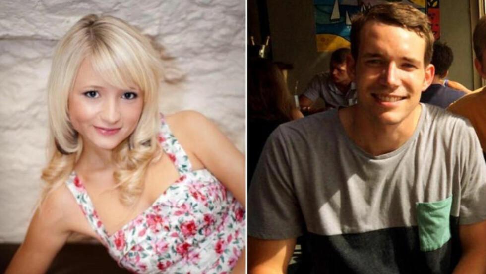 FUNNET DREPT: Hannah Witheridge (23) fra Norfolk og David Miller (24) fra Jersey ble mandag funnet drept på stranda på ferieøya Koh Tao i Thailand. Foto: Reuters.