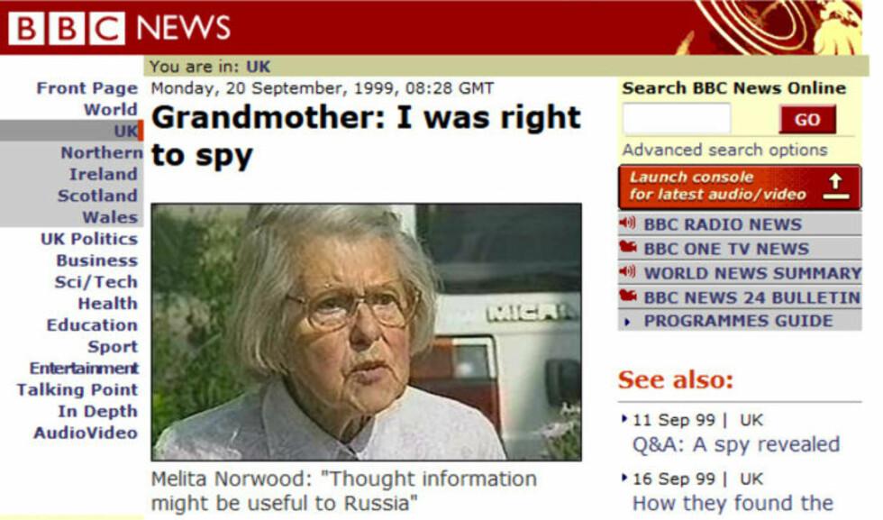 BBC 20. september 1999.