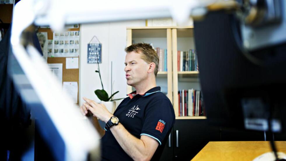 KREVER KVINNEPLAN:  Sigve Bolstad i Politiets Fellesforbund vil ha en plan fra politikerne om hvordan de skal få flere kvinnelige ledere i politietaten. Foto: Nina Hansen