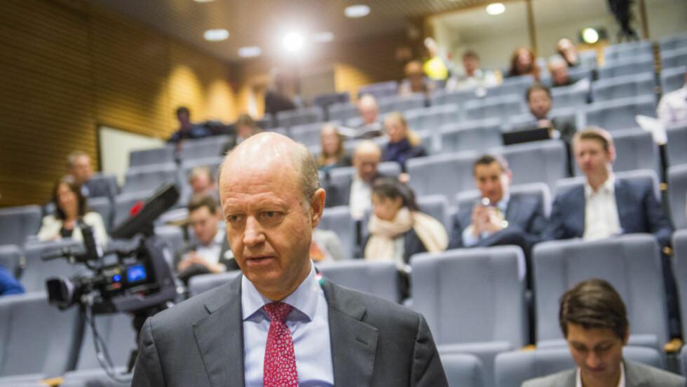 MÅ GÅ: Jørgen Ole Haslestad går av som konsernsjef i Yara. Foto: Fredrik Varfjell / NTB scanpix