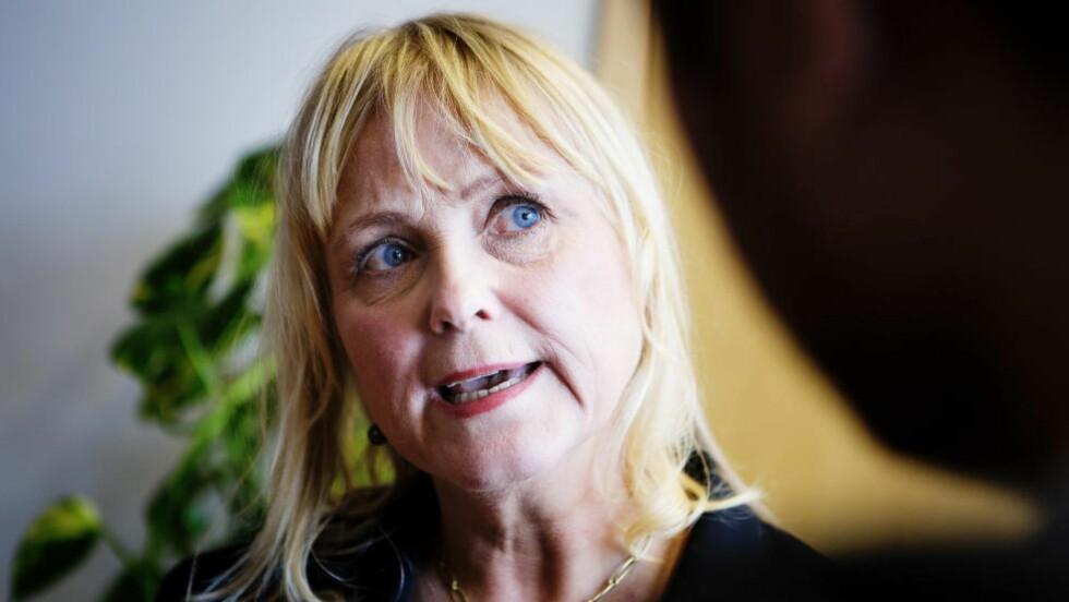 LISENSEN FRYSES: Kulturminister Thorhild Widvey (H) og resten av regjeringen fryser NRK-lisensen for 2015. Foto: Christian Roth Christensen