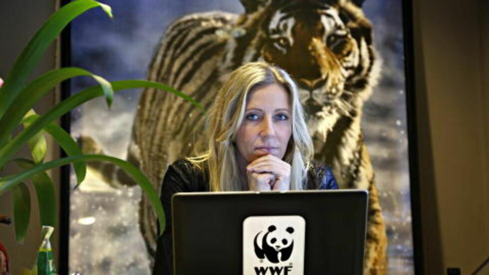 NATURLIG: Generalsekretær i WWF Norge, Nina Jensen, sier rovdyr som ulv er en like naturlig del av norsk natur som furu og villaks. Foto: Jacques Hvistendahl/Dagbladet