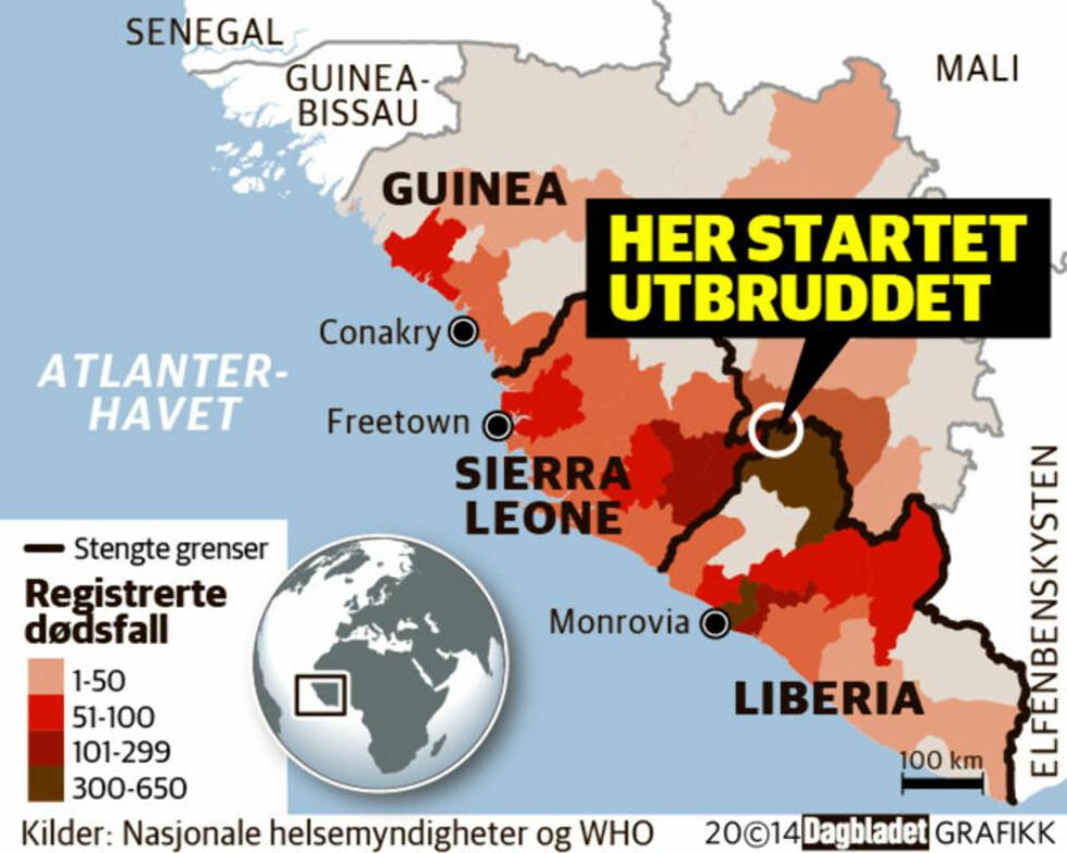 Liberia trenger 2930 sykesenger til ebola-ofre, har bare 620