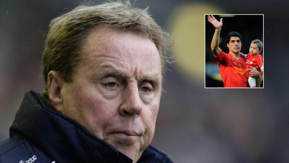 VURDERTE SUAREZ:  Harry Redknapp vurderte å hente Luis Suarez til Tottenham. Da han bestemte seg for å gjøre det, var det for sent. Foto: NTB Scanpix.
