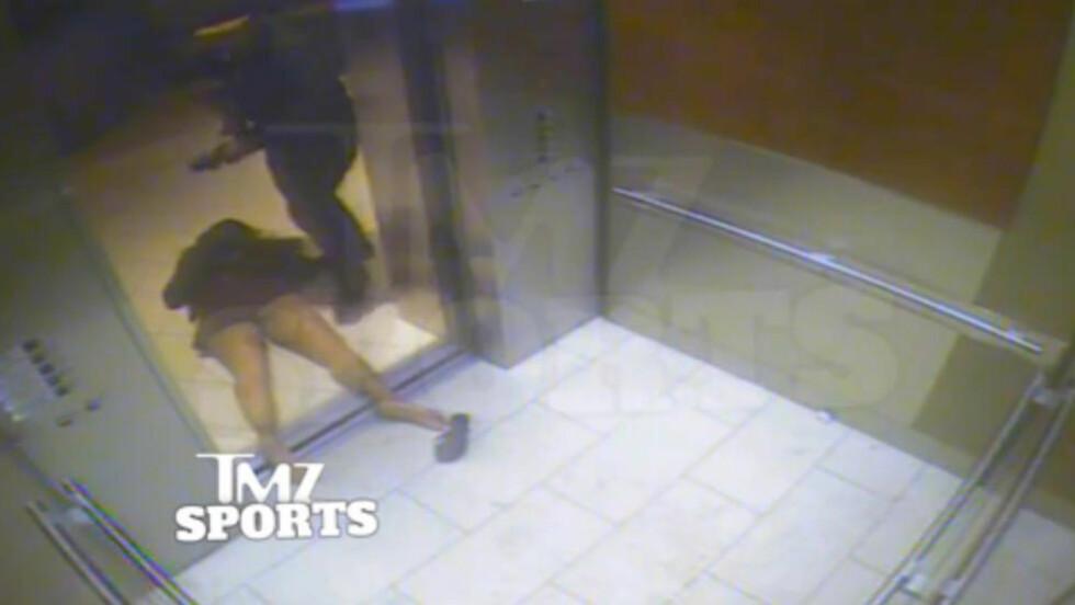 AVSLØRT. Videoen der NFL-stjerna Ray Rice banker opp sin daværende forlovede har sørget for et jordskjelv i amerikansk fotball. Nå påstår en tidligere klubbdirektør om flere hundre tilfeller av vold, som ble feid under teppet. Foto: TMZ/AP.