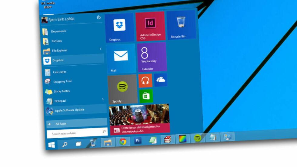 MER I VENTE: Windows 10 Technical Preview inkluderer flere nyheter som Microsoft ikke har snakket høyt om ennå. Foto: BJØRN EIRIK LOFTÅS / DINSIDE.NO