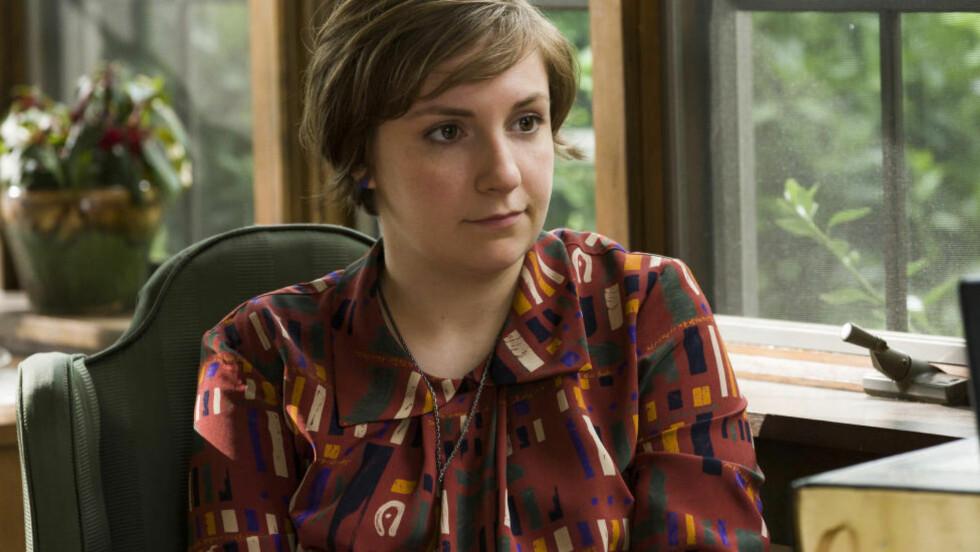 """FLINK: Forfatter og serieskaper Lena Dunham, her i en scene fra tv-serien """"Girls"""". Foto: Scanpix"""