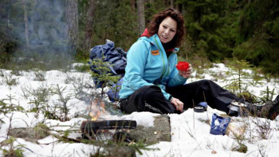 <strong>FRILUFTSLIV:</strong> Trine Rein var deltaker i TV-programmet «71 grader nord» og tok i den anledning Dagbladet med på tur i skogen.  Foto: Lars Eivind Bones / Dagbladet