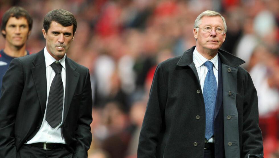 KALDFRONT: Roy Keane langer ut mot tidligere Manchester United-manager Alex Ferguson i et BBC-intervju. Foto: AFP PHOTO/ANDREW YATES/NTB SCANPIX