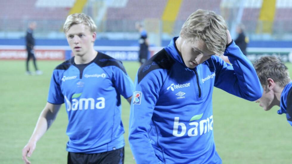 <strong>FIKK IKKE SPILLE:</strong> Martin Ødegaard ble sittende på benken i samtlige 90 minutter mot Malta i går. Det skapte reaksjoner hos mange. Foto: Terje Pedersen / NTB scanpix