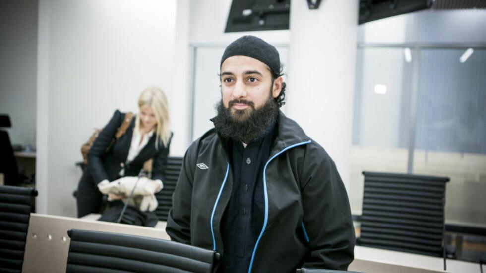 NÆR VENN: Ubaydullah Hussain sier haldenseren er en nær venn. Hussain ble i Oslo tingrett tidligere denne måneden frifunnet for indirekte oppfordring til terror. Foto: Christian Roth Christensen / Dagbladet