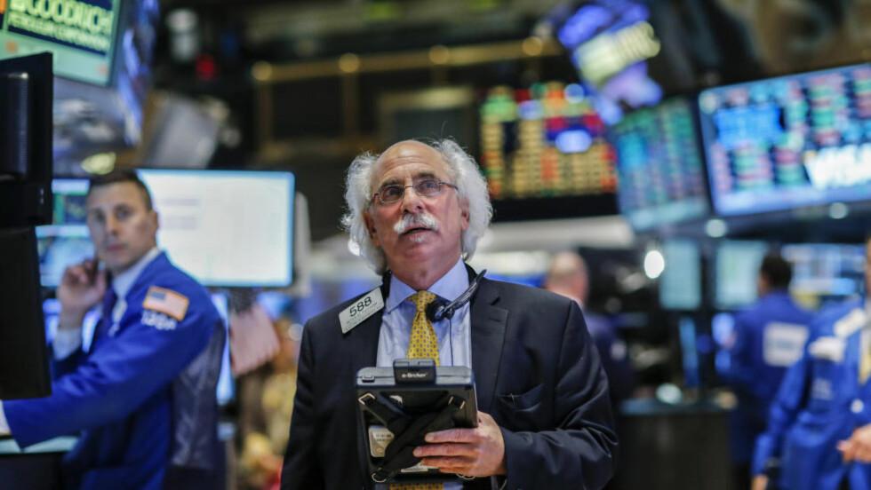 NEDGANG: New York-børsen har stupt de siste dagene. Foto: REUTERS/Eduardo Munoz