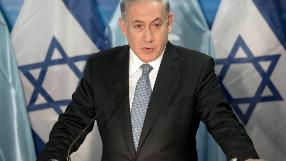 ANKLAGER PALESTINERE: Israels statsminister, Benjamin Netanyahu, mener palestinere er skyld i uroen i Jerusalem. Foto: eEPA/MENAHEM KAHANA / POOL