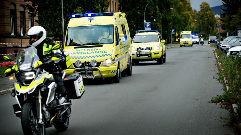 TIL BEHANDLING: Den ebolasmittede norske kvinnen ble i forrige uke fraktet hjem til Norge fra Sierra Leone. Foto: Anita Arntzen / Dagbladet