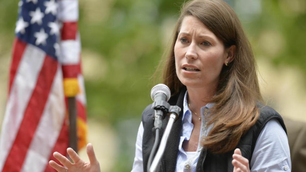 I TRØBBEL: Demokratenes kandidat i Kentucky, Alison Lundergan Grimes, ville ikke svare på om hun stemte på president Barack Obama. Foto: AP Photo/Timothy D. Easley, File