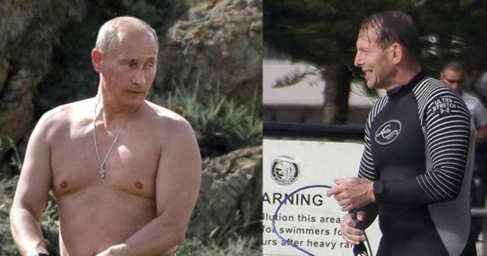 """TRUET PUTIN: «Hør her! Jeg skal """"shirtfront"""" Putin ... det kan du vedde på. Jeg kommer til å si til Putin: australiere ble drept. De ble drept av russisk-støttede opprører med utstyr skaffet til veie av russerne». Det sa Australias statsminister Tony Abbott (til høyre) sist mandag. Foto: NTB SCANPIX"""