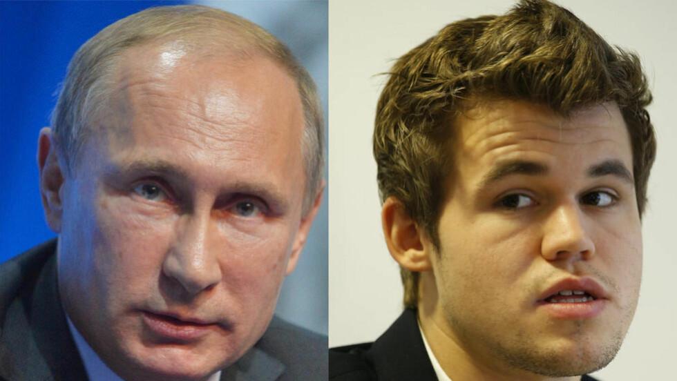 KOMMER TIL SOTSJI: Russland-president Vladimir Putin vil ankomme Magnus Carlsens VM-kamp mot Vishy Anand i Sotsji. Foto: Scanpix / Dagbladet