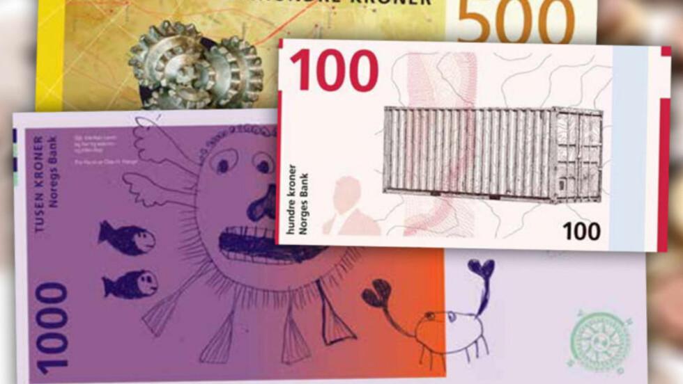 TAPERNE: Forslagene om å designe Norges nye sedler kom fra åtte kanter. Og noen av forslagene var mer... kreative enn andre.  Foto: NORGES BANK / OLE PETTER BAUGERØD STOKKE / DINSIDE.NO