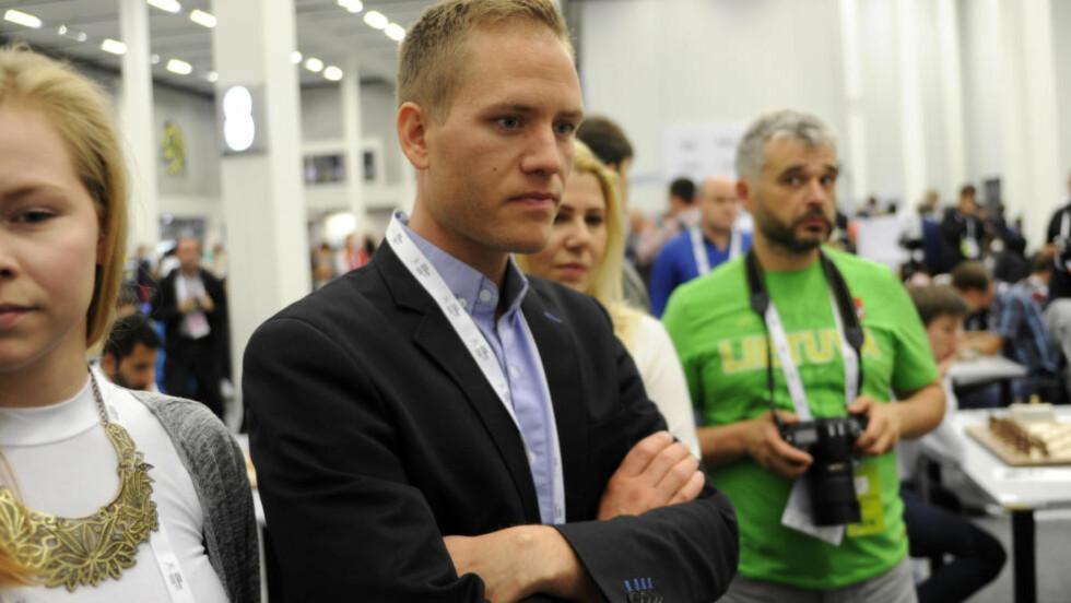 OL: Arrangøren av sjakk-OL er begjært konkurs. Her er direktør for Sjakk-OL Børge Robertsen. Foto: Rune Stoltz Bertinussen / NTB scanpix