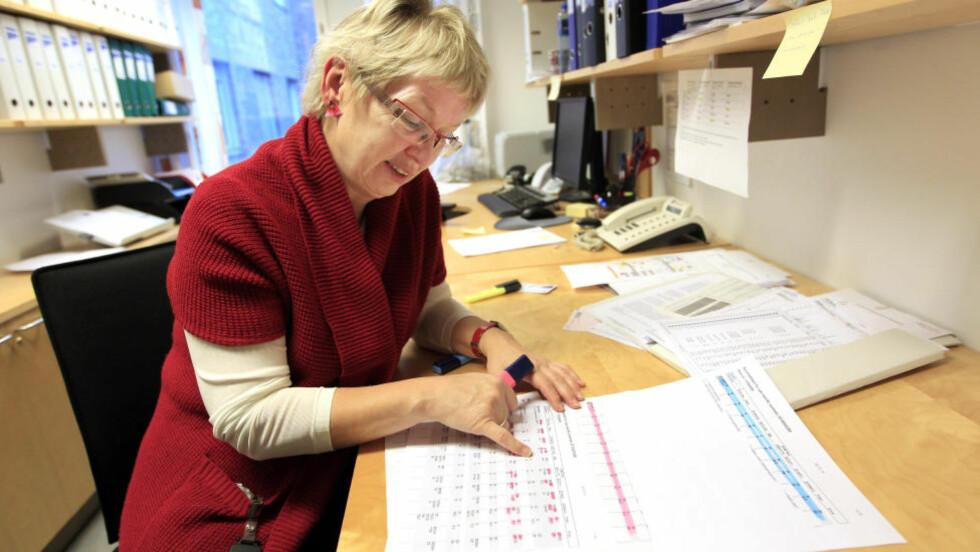 DNA-EKSPERT: Avdelingsdirektør Bente Mevåg ved avdeling for biologiske spor hos Folkehelseinstituttet. Foto: Lise Åserud / Scanpix