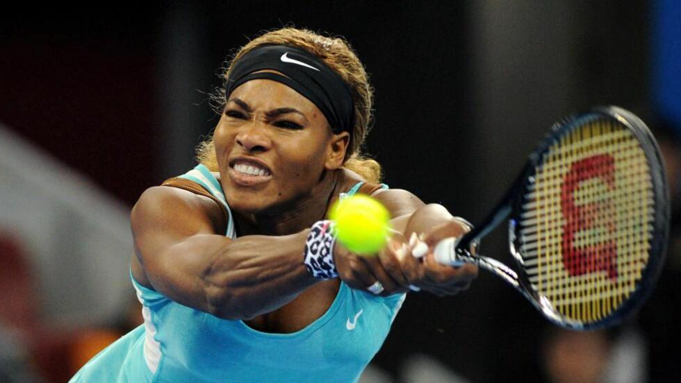 IRRITERT:  Serena Williams legger ingen mellom når hun beskriver  Sjamil Tarpitsjev. Foto: NTB Scanpix