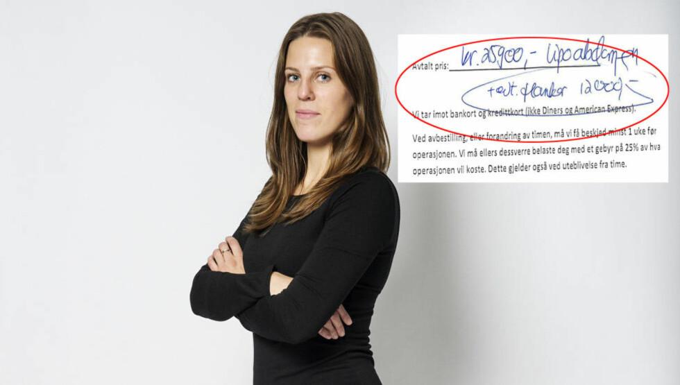 TO AV TRE SA JA: Journalist Therese Doksheim fikk ja hos to kosmetiske kirurger. Den tredje mente et inngrep var etisk og moralsk feil. Foto: Benjamin A. Ward/Dagbladet