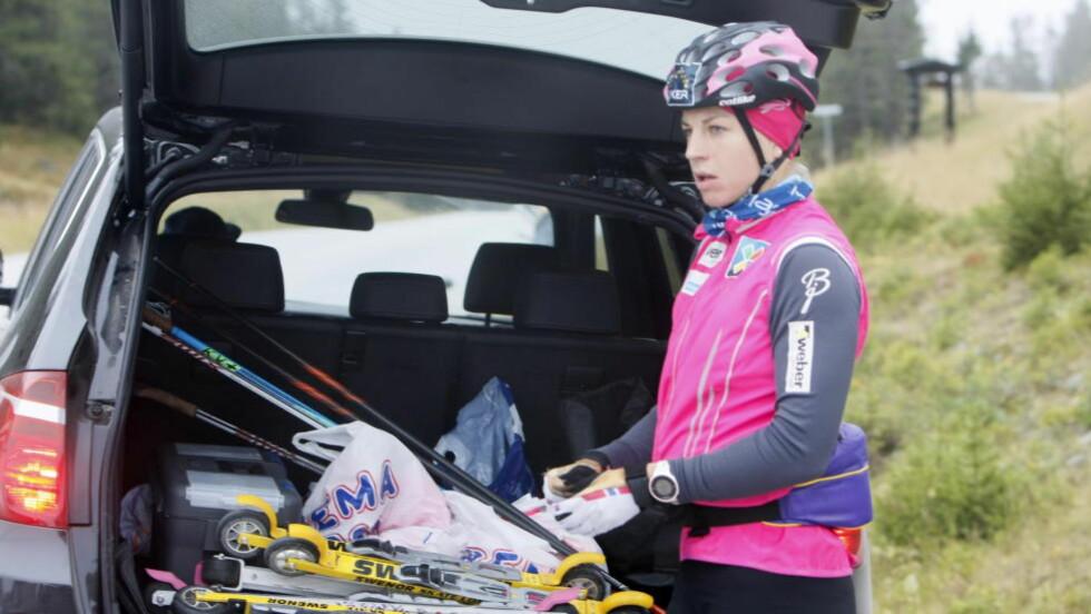 BLIR HJEMME: Astrid Uhrenholdt Jacobsen velger å trene hjemme mens lagvenninnene er i Italia denne uka. Foto: Tormod Brenna / Dagbladet