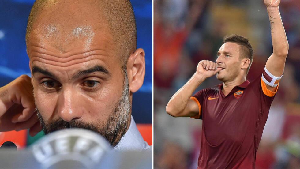 TOMMEL-TOTTI: Francesco Totti (38) kan score Romas mål nummer 100 i Champions League mot Bayern München tirsdag kveld. Foto: NTB Scanpix.