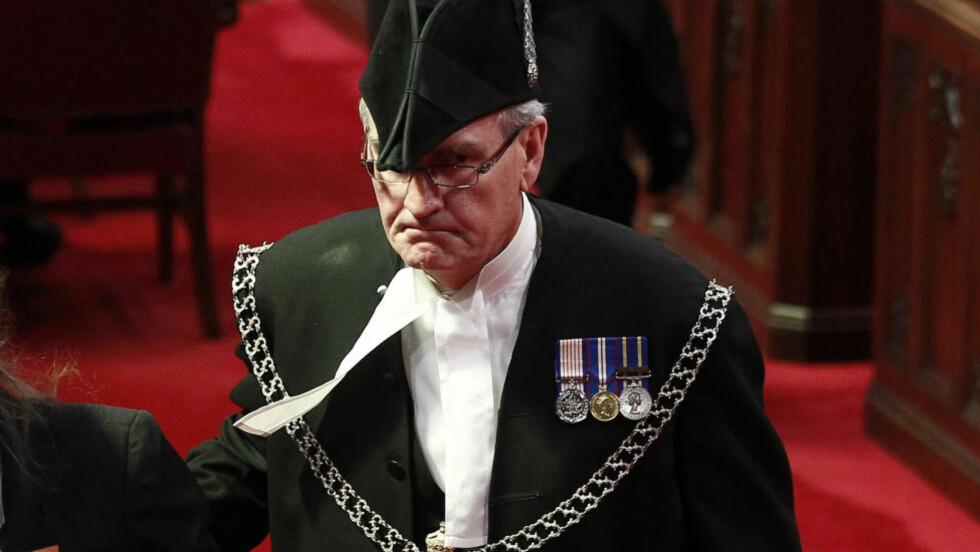 Helt: Det var vokter Kevin Vickers som selv skjøt og drepte en av angriperne inne i parlamentsbygningen i Ottawa: Arkivfoto: Reuters