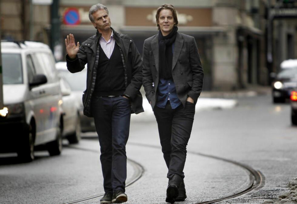 PARHESTER:  Jan Åge Fjørtoft og Rune Bratseth. Foto: Erling Hægeland/Dagbladet