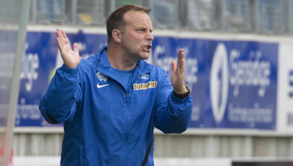 TAR OVER: Geir Bakke overtar treneransvaret i eliteserieklubben Sarpsborg neste sesong. Han ble presentert torsdag. Foto: Svein Ove Ekornesvåg / NTB scanpix