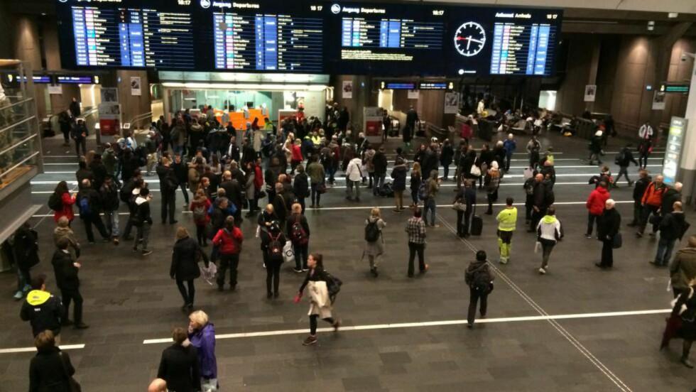 KAOS: På Oslo S. Foto: Pål Marius Tingve / Dagbladet