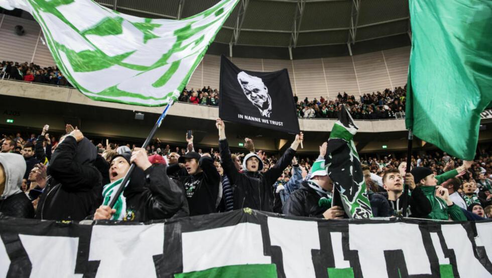 STEMNING:  Hammarby har en enestående supporterkultur. Laget spiller hjemmekampene på Tele2 Arena i Stockholm. Foto: Nils Petter Nilsson