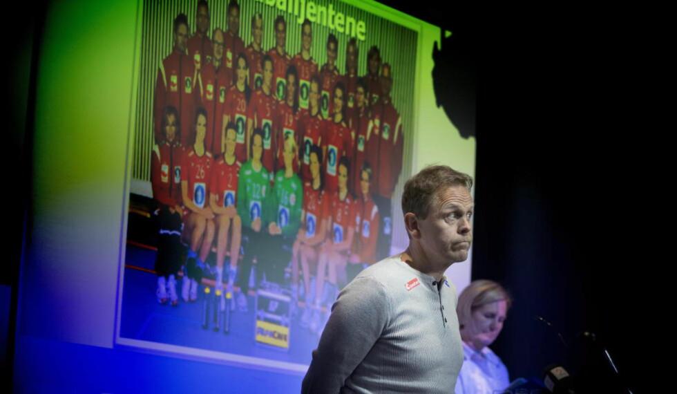 DAMESJEF: Thorir Hergeirsson har vært sjef for det norske damelandslaget i håndball siden 2009. På nyåret tilbys han en forlengelse helt fram til EM i Norge i desember 2020. Foto: Bjørn Langsem