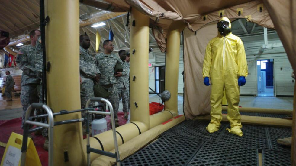 SKAL HA EBOLA_VAKSINE KLAR: WHO oplyser at en million vaksinedoser mot ebola skal være klare i løpet av neste år, men om den blir effektiv er usikkert og det er ikke sikkert det blir vaksinen som stopper utbruddet. Foto: REUTERS/Harrison McClary/NTB scanpix