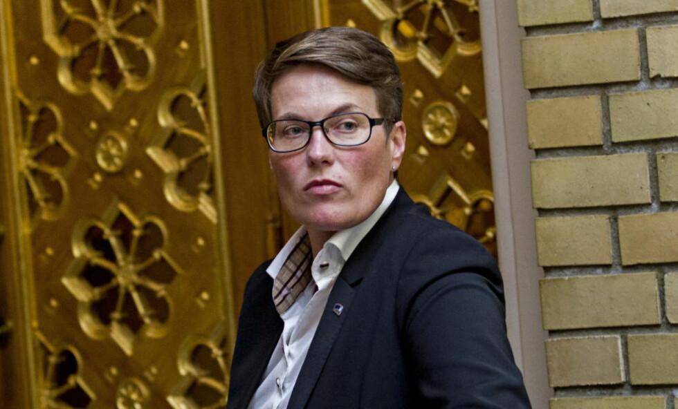 IRRITERT :  Miljøvernminister Tine Sundtoft skal ha blitt kraftig irritert da miljøkapittelet ble fjernet fra statsbudsjettet.. Foto: Torbjørn Berg / Dagbladet