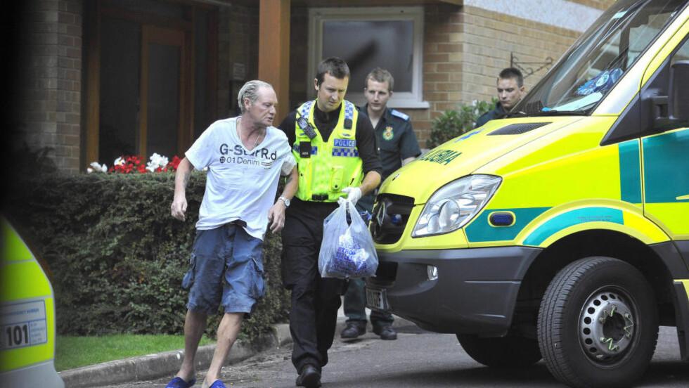 HASTEINNLAGT: Den tidligere fotballstjernen Paul Gascoigne er hasteinnlagt på sykehus. Nå tilbyr Tottenham sin støtte for å hjelpe ham. Her fra da han ble lagt inn i august. Foto: Splash / All Over Press